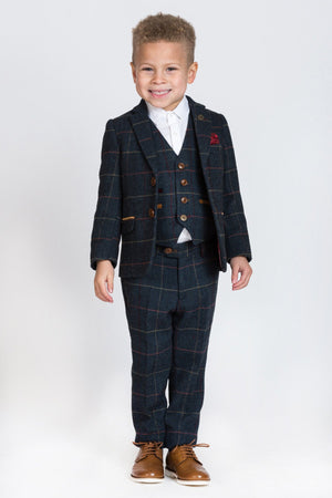 Eton Navy Boys Wedding Suit - Wedding Suit Direct