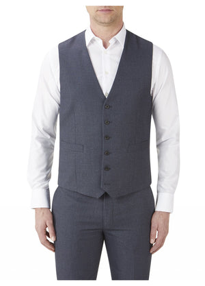 Harcourt Blue Wedding Waistcoat - Wedding Suit Direct