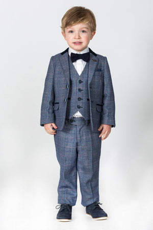 Hilton Boys Tweed Check Suit - Wedding Suit Direct