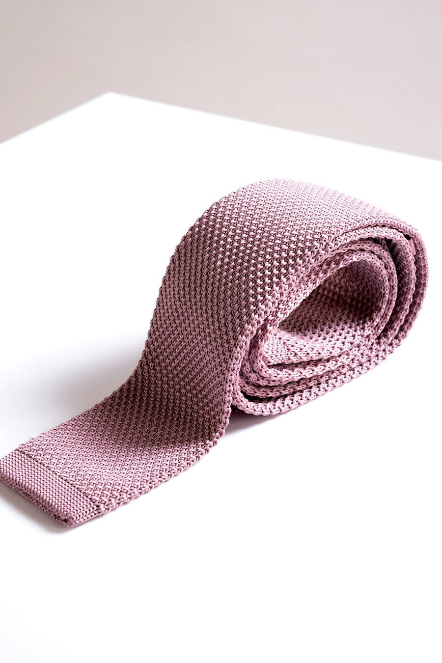 KT Pink Knitted Tie - Wedding Suit Direct
