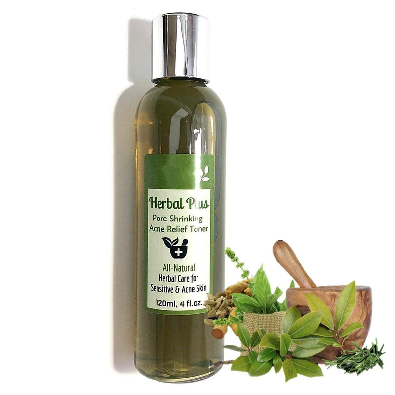 Herbal Plus Toner (70~120ml, 2.4~4.0fl.oz.) (Pore shrinking, Anti-acne, Exfoliating, Skin toning...)