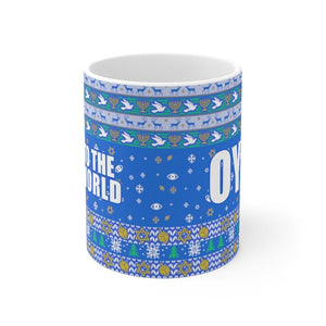 Oy to the world Hanukkah Mug 11oz