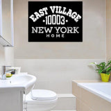 Customized Zip Code Wall Art Black