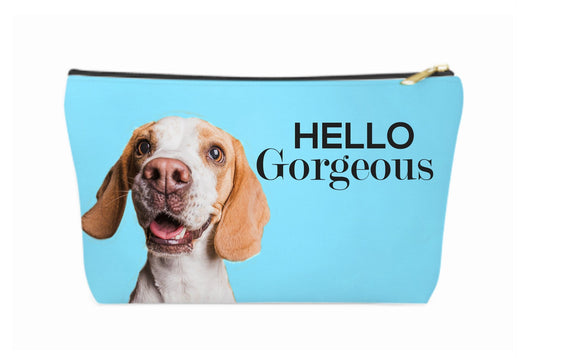 Custom Hello Gorgeous Make up Bag