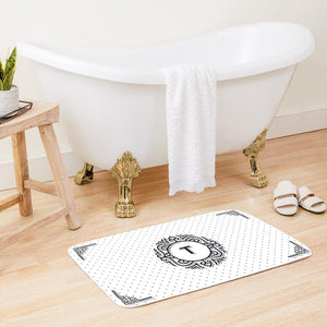 Personalized Monogram Bath Mats