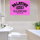 Customized Zip Code Wall Art Pink