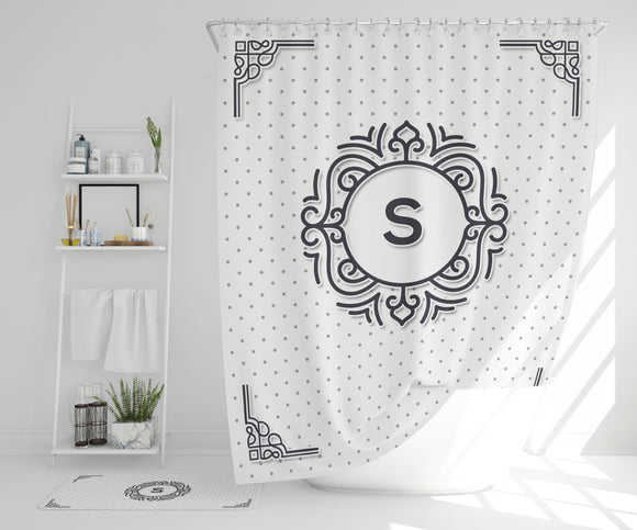 Personalized Monogram Shower Curtain