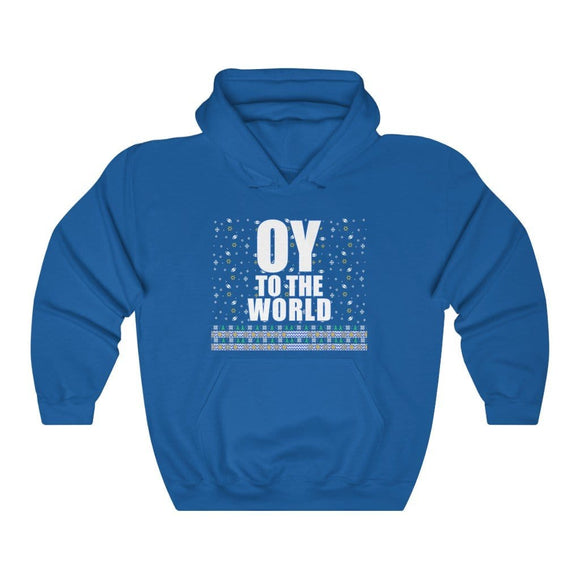 Oy to the world Hanukkah Unisex  Hoodie
