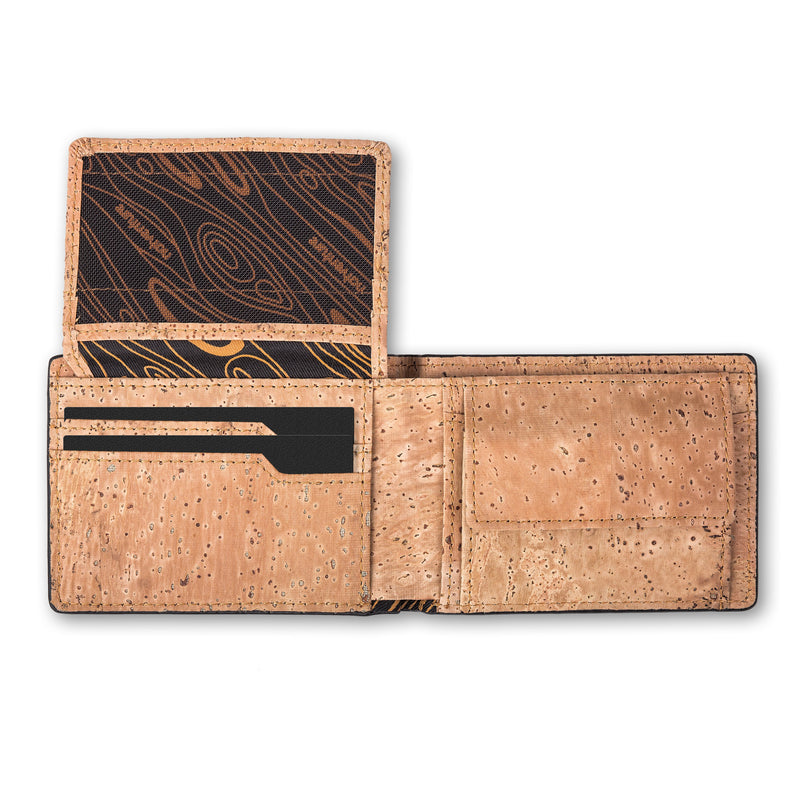 Pinnacle: Cork Leather Wallet with RFID Protection