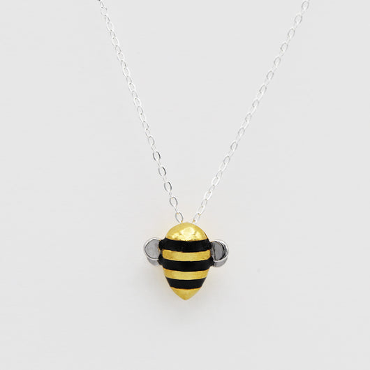 *LIMITED EDITION* Silver Save The Bees Necklace