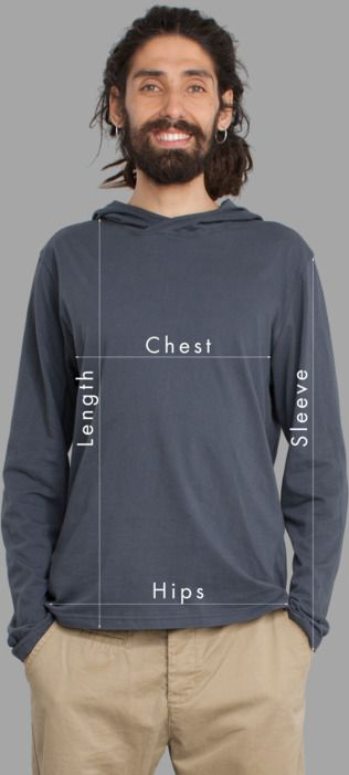 Men Long Sleeve Hoodies Sizing