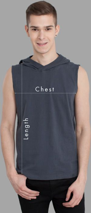 Men Sleeveless Hoodies Sizing