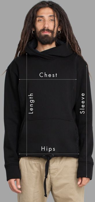 Men Sweatshirts Sizing