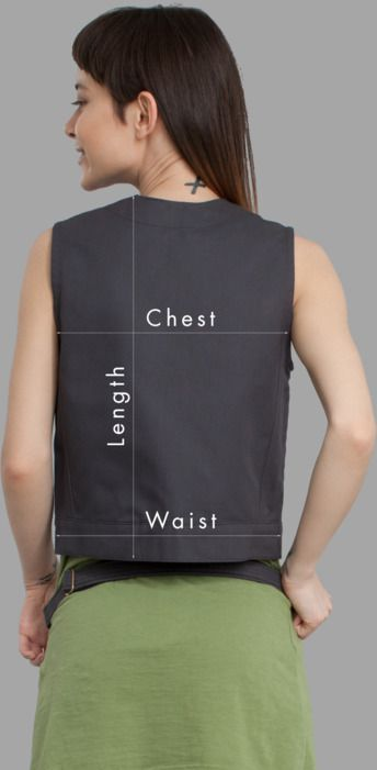 Women Vests Sizing