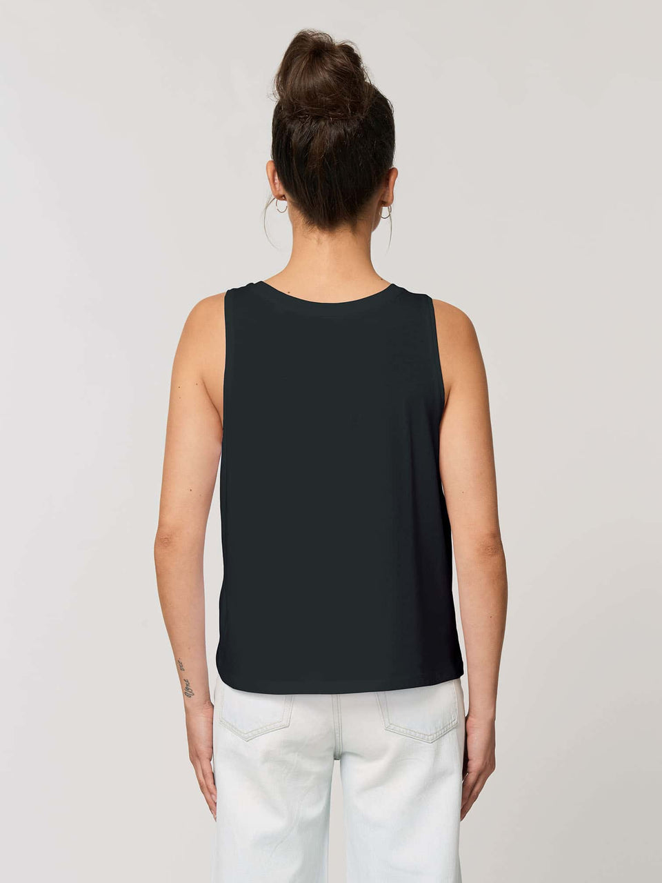 Song Weaving Made To Order Women Cropped Tank Top - Black
