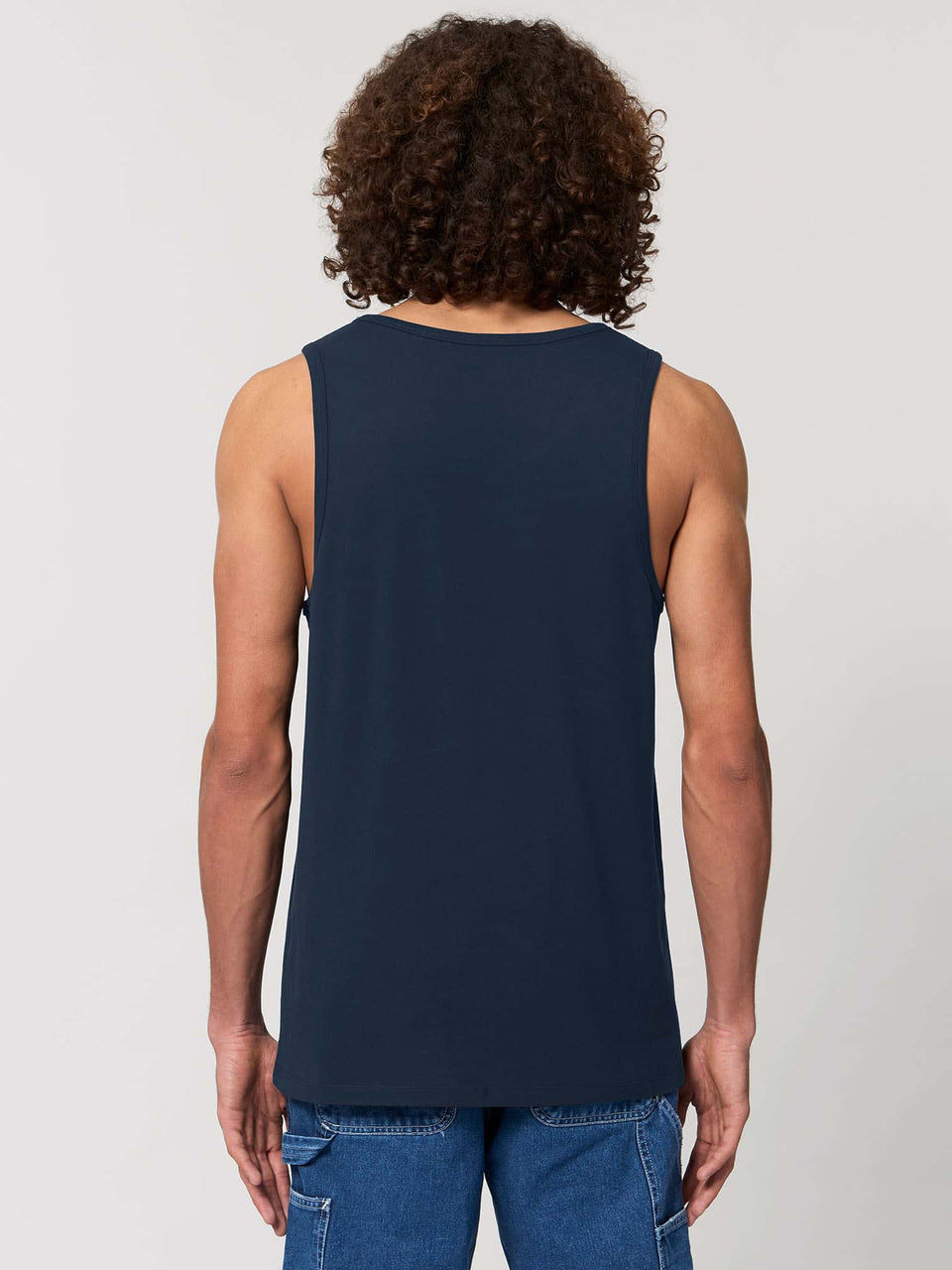 Shipibo Butterfly Made To Order Men Tank Top - Navy Blue