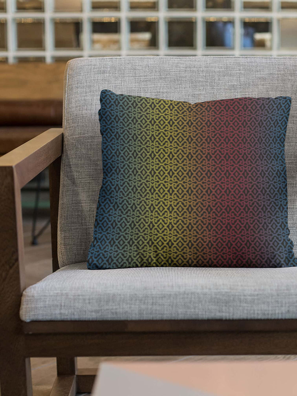 Shipibo Gradient - Square Pillow (M)