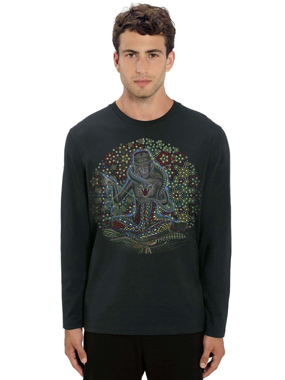 Song Weaving Made To Order Men Long Sleeve T-shirt - Black