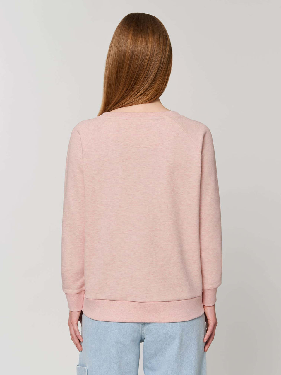 Bufo Alvarius Made To Order  Women relaxed fit sweatshirt - Cream Heather Pink