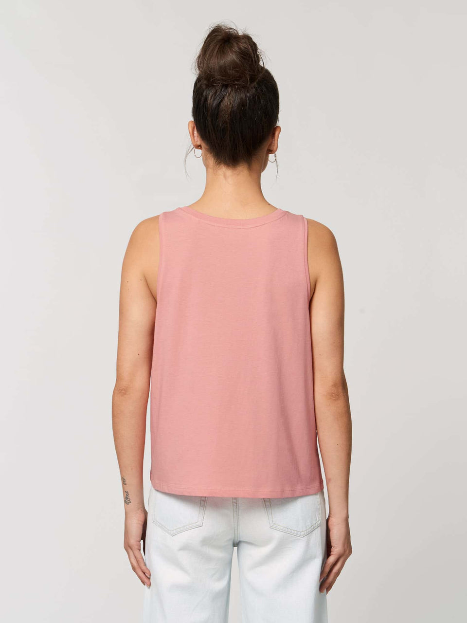 Bufo Alvarius Made To Order Women Cropped Tank Top - Canyon Pink