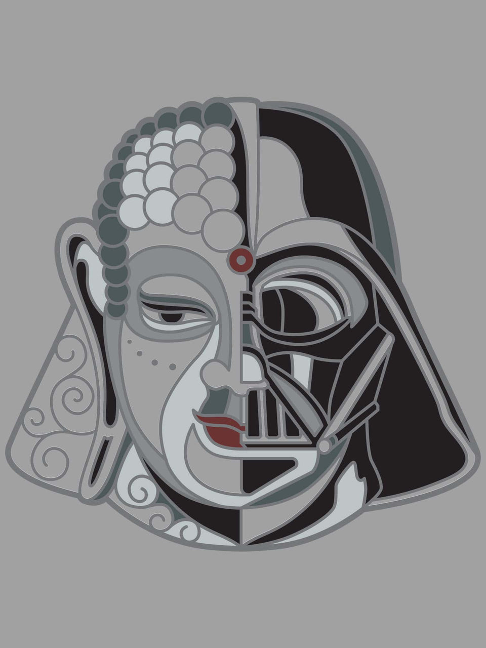Darth Buddha Made To Order Men Tank Top - Grey Heather