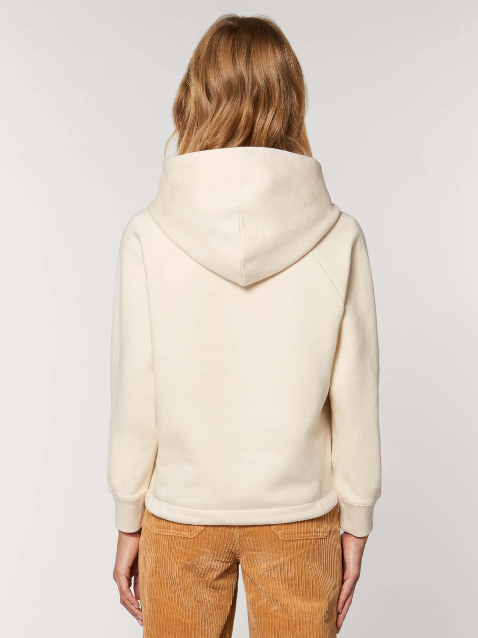 Bufo Alvarius Made To Order Women Cropped Hoodie Sweatshirt - Natural Raw