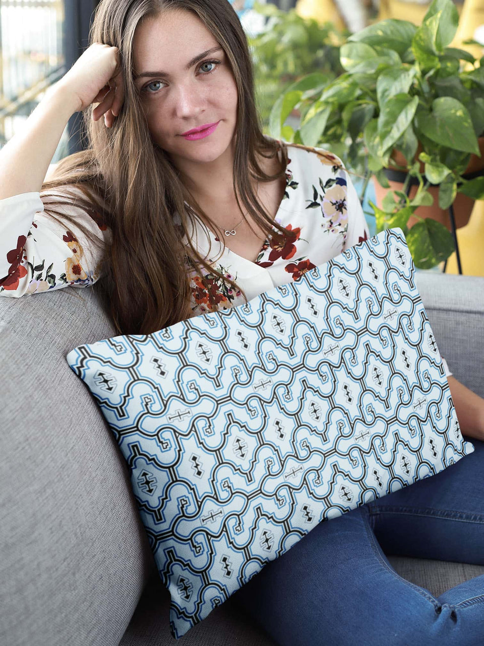 Shipibo Classic - Rectangular Pillow