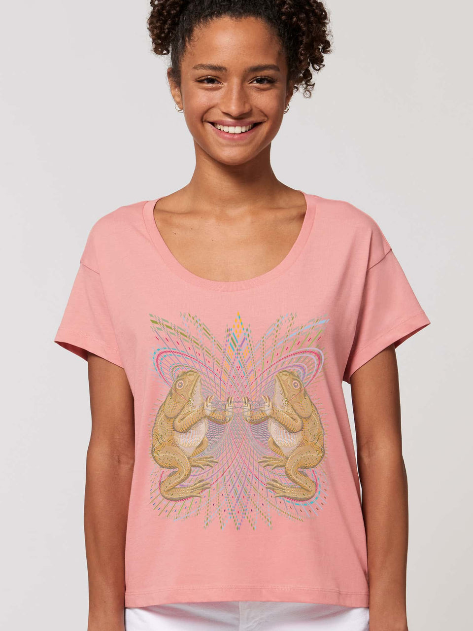 Bufo Alvarius Made To Order Women T-Shirt - Canyon Pink