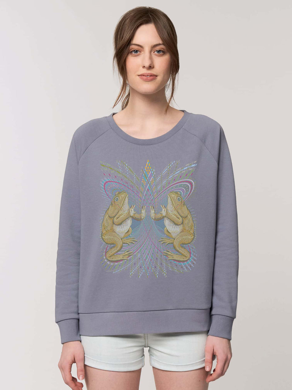 Bufo Alvarius Made To Order  Women relaxed fit sweatshirt - Lava Grey
