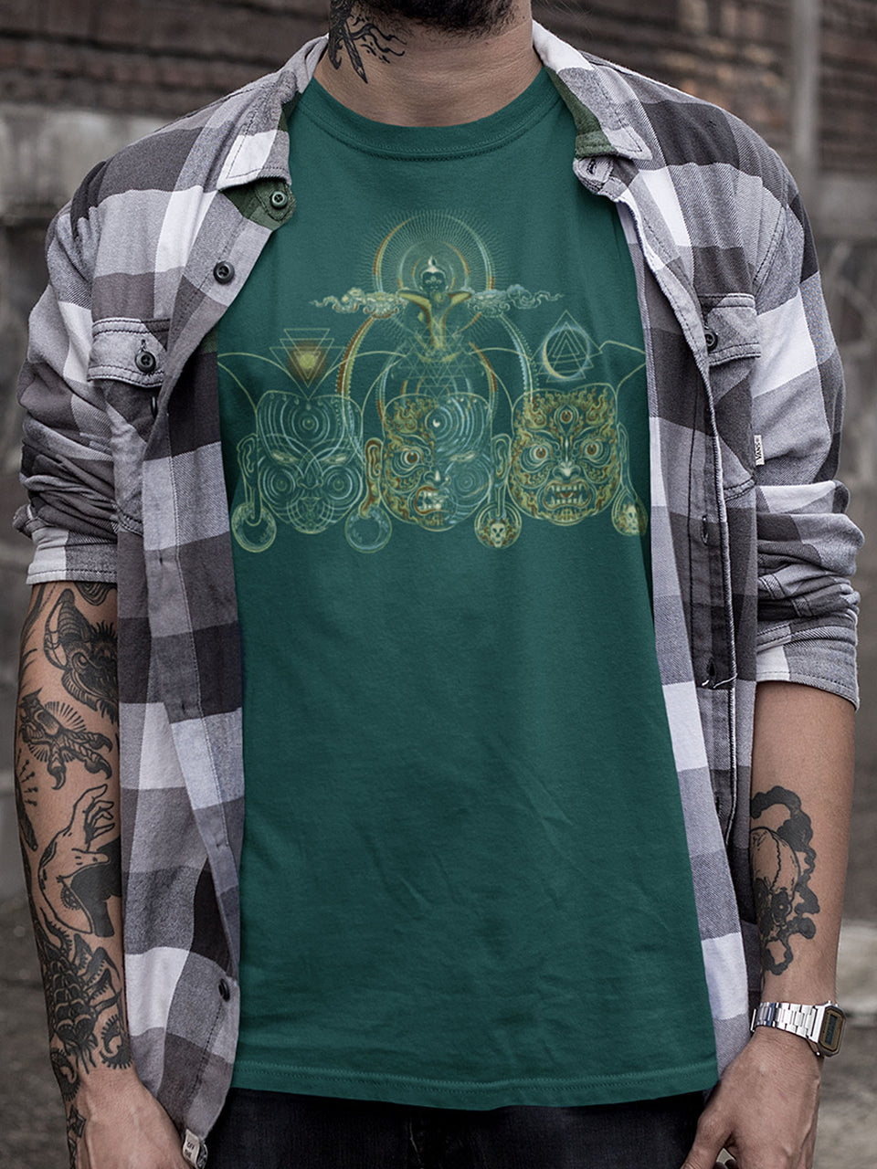 Tripura Made To Order Men T-Shirt - Bottle Green