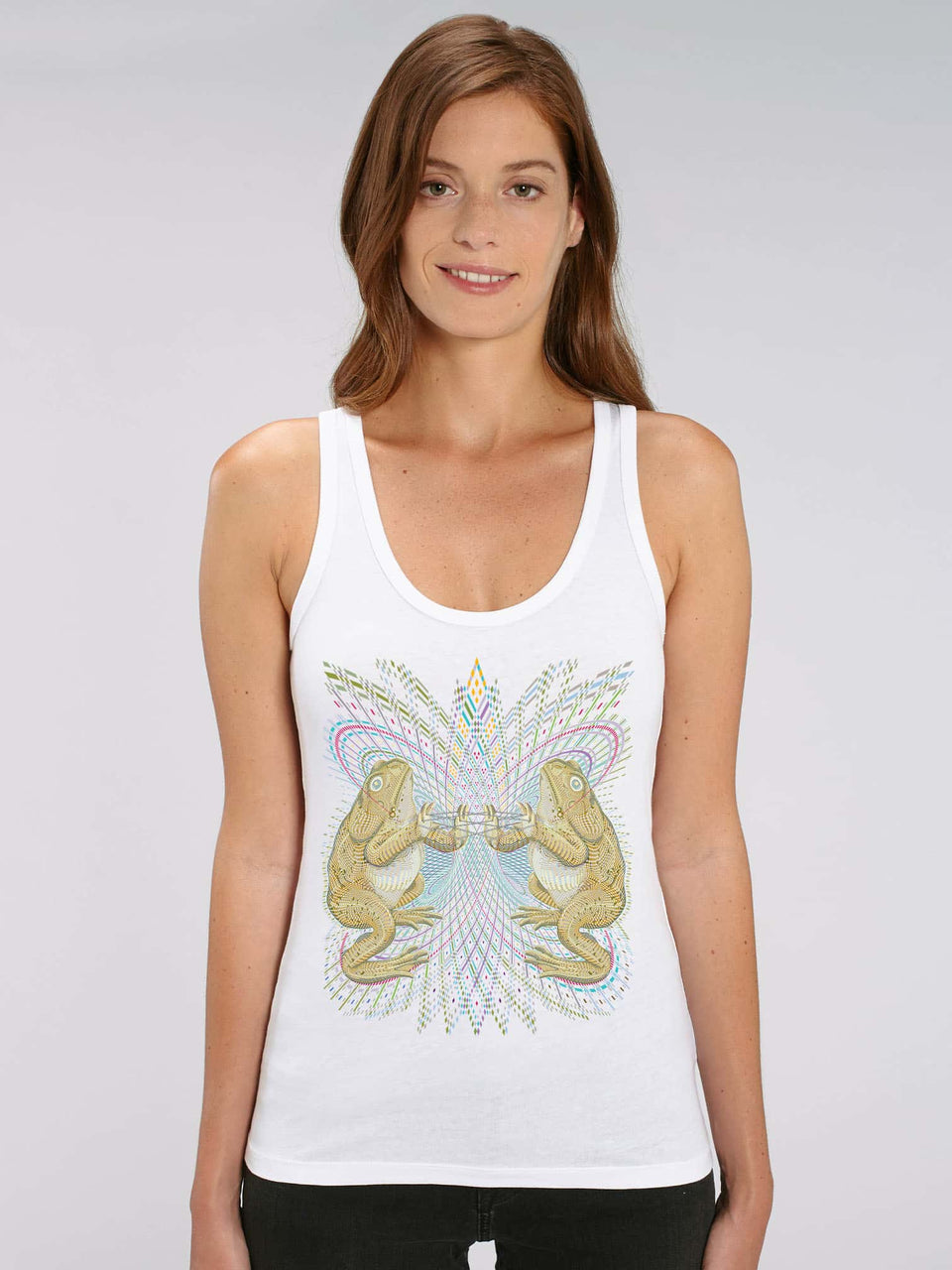 Bufo Alvarius Made To Order Women Tank Top - White