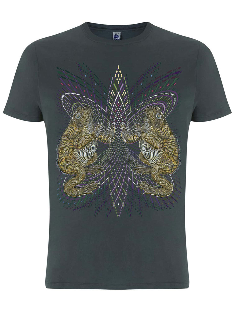Bufo Alvarius Made To Order Men T-Shirt - Light Charcoal