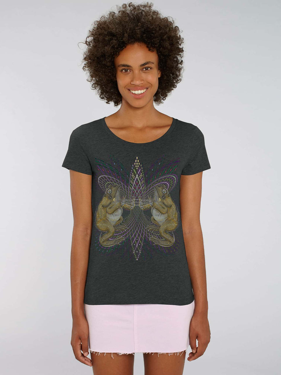 Bufo Alvarius Made To Order Women t-shirt - Dark Heather Grey