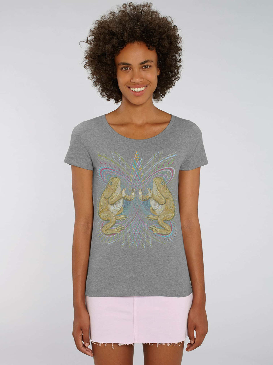Bufo Alvarius Made To Order Women t-shirt - Mid Heather Grey
