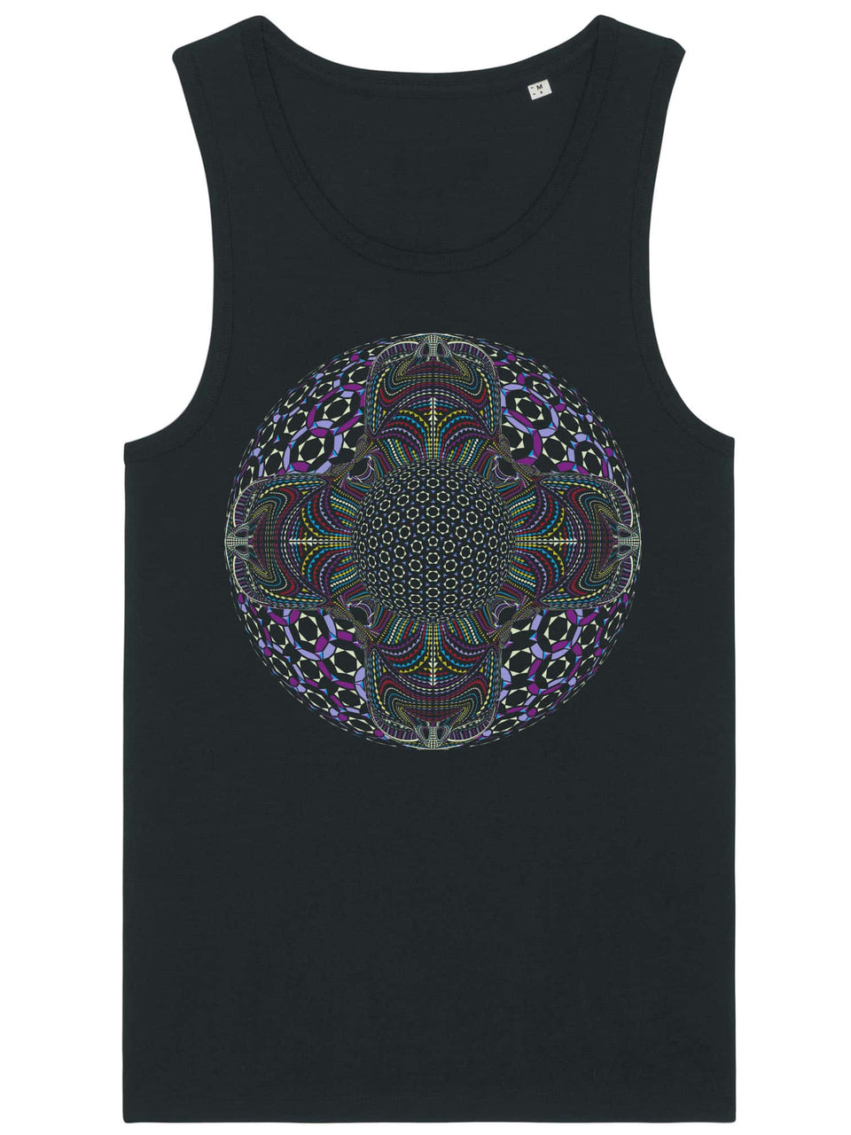 DMT HD Mandala Made To Order Men Tank Top - Black