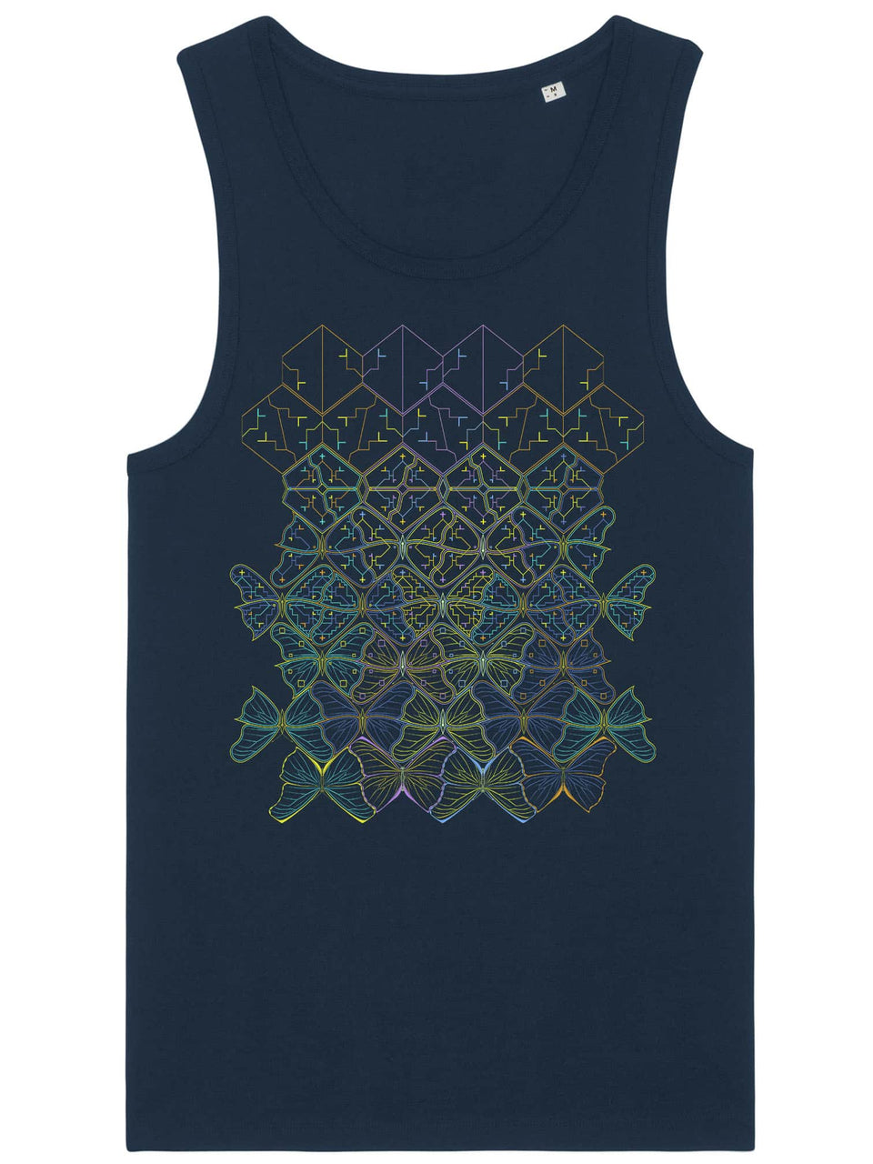 Butterfly Morph Made To Order Men Tank Top - Navy Blue