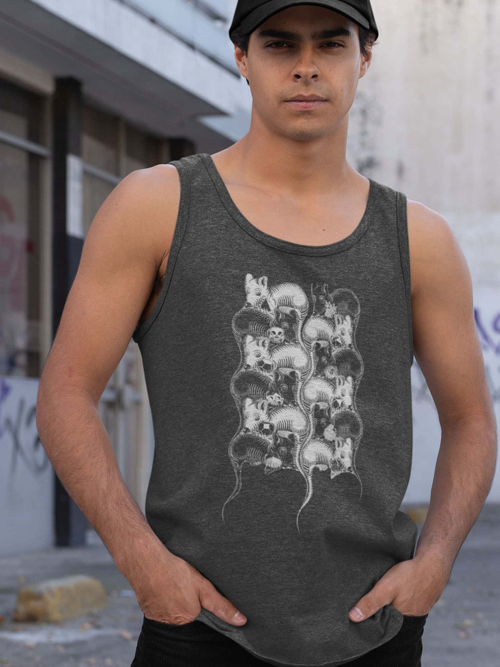 12Mice Made To Order Men Tank Top - Dark Heather