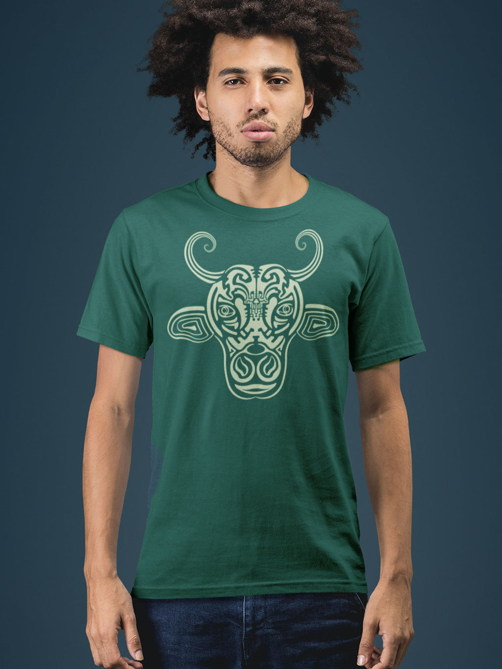 Holy Cow Made To Order Men T-Shirt - Bottle Green