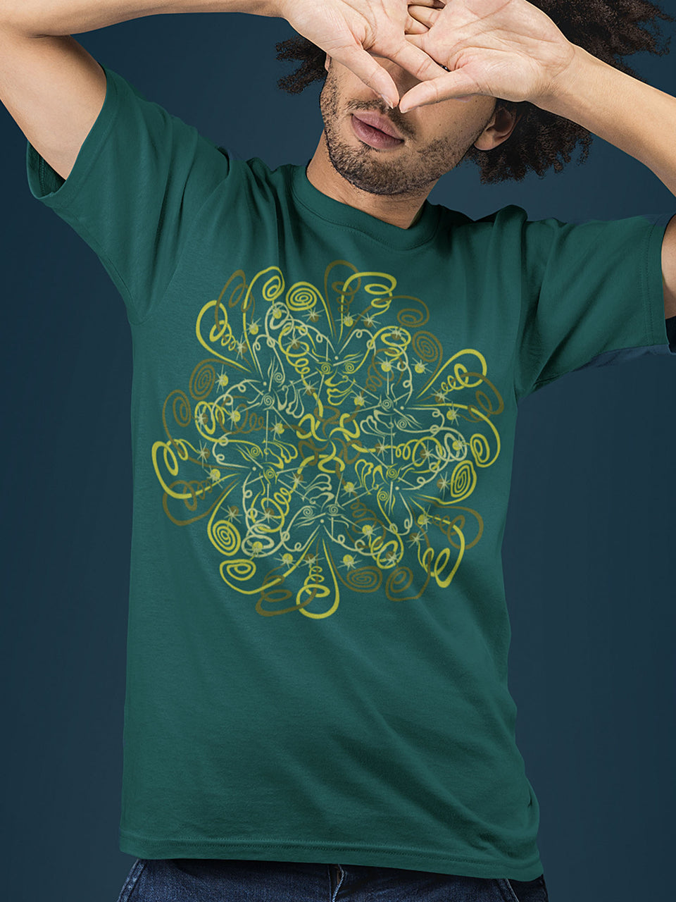 DyMiTry Made To Order Men T-Shirt - Bottle Green