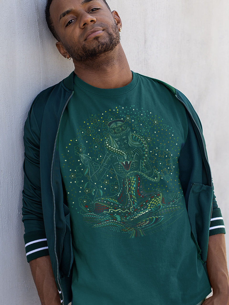Song Weaving Made To Order Men T-Shirt - Bottle Green