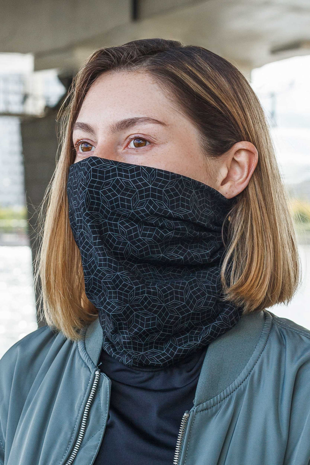 Penrose Mono Face Mask - Black