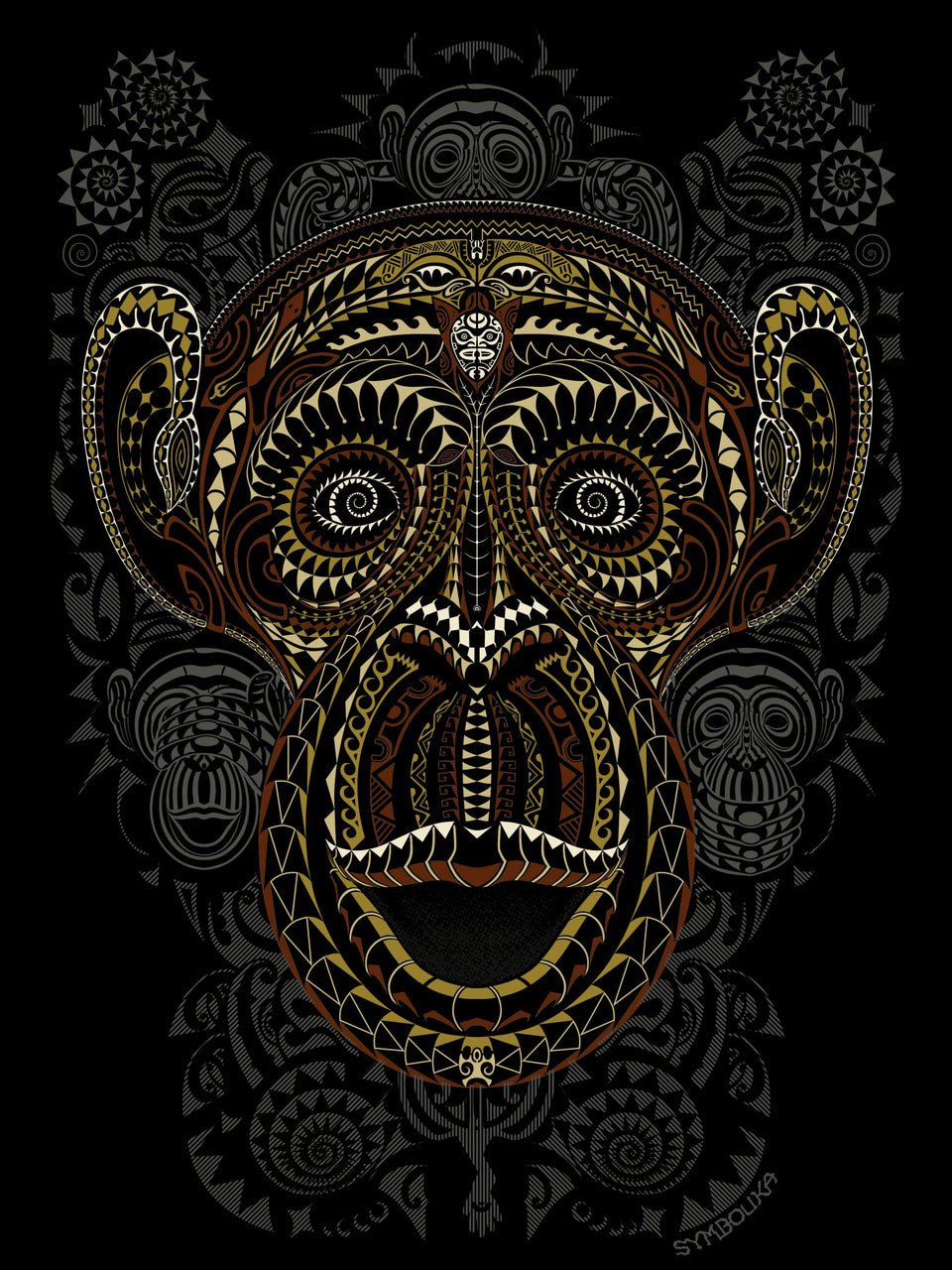 Ta Wise Monkeys  Made To Order Men T-Shirt - Black