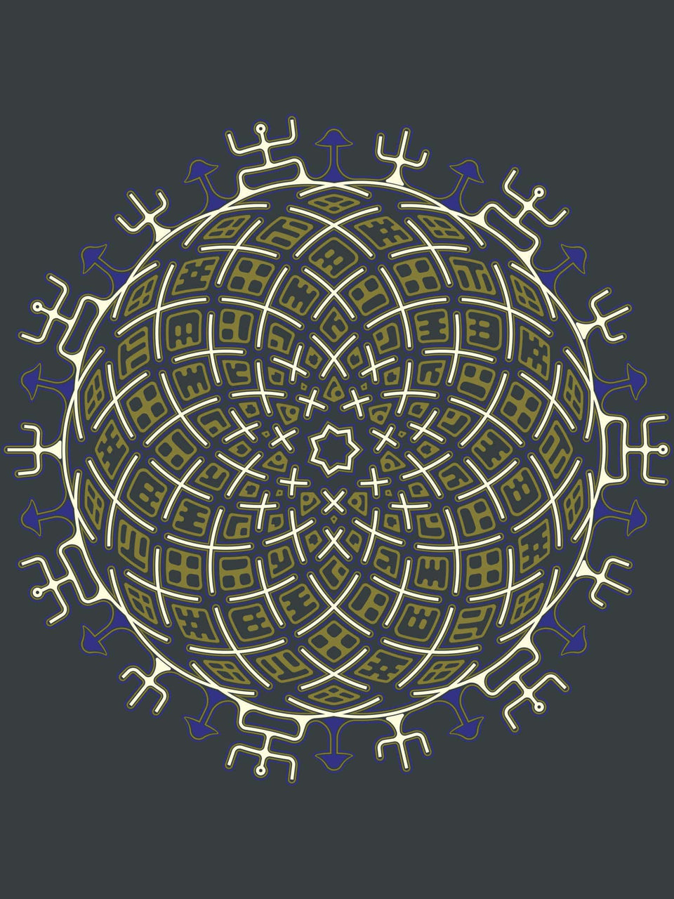 Vortex Cross Made To Order Men T-Shirt - Light Charcoal