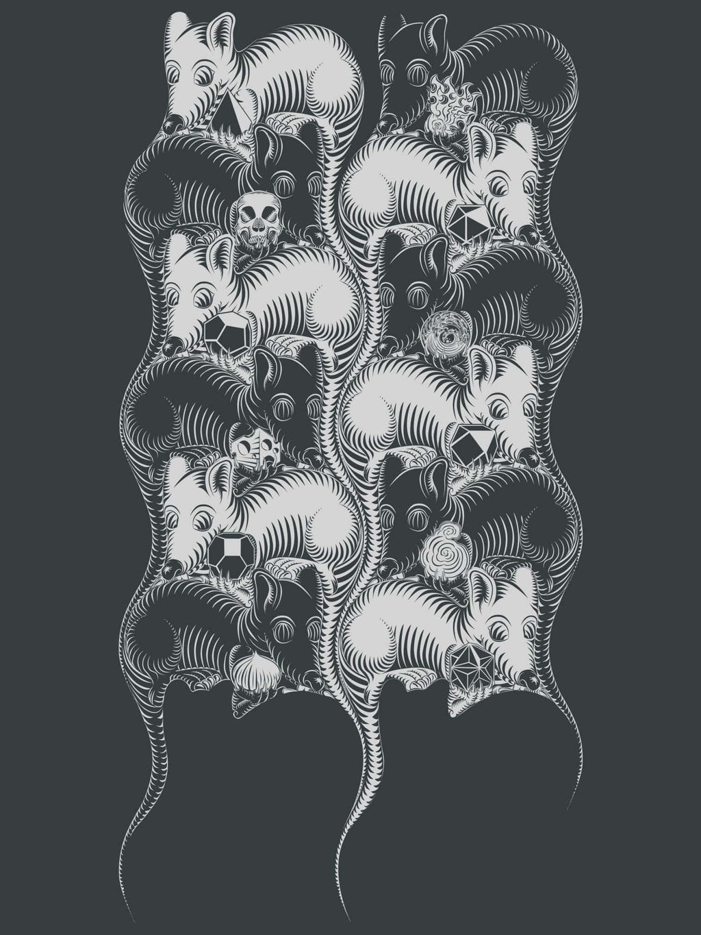 12 Mice Made To Order Men T-Shirt - Light Charcoal