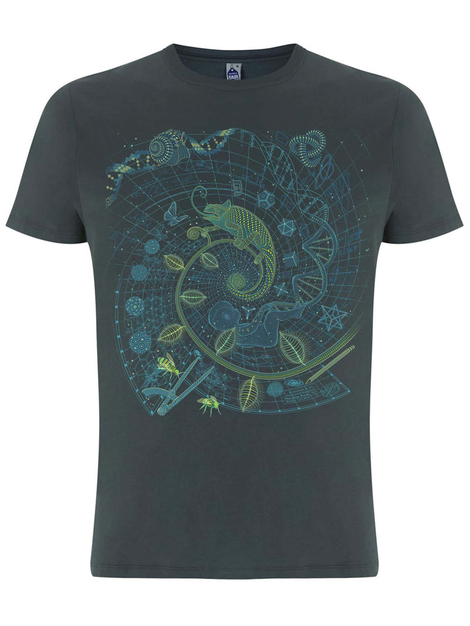 The BluePrint -Land - Made To Order Men T-Shirt - Light Charcoal