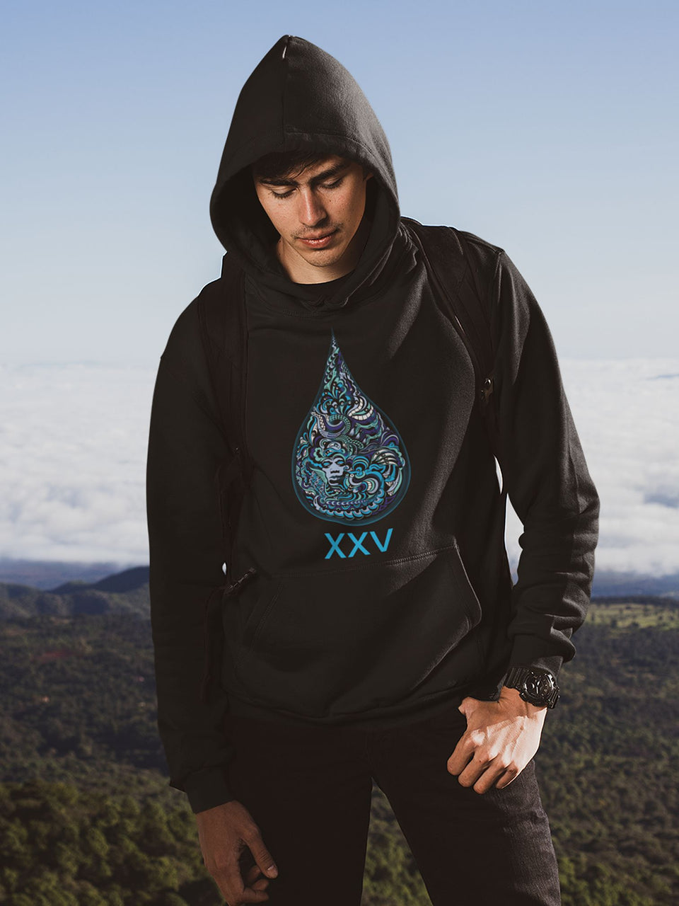 LSD XXV Made to Order Men Sweatshirt Hoodie - Black