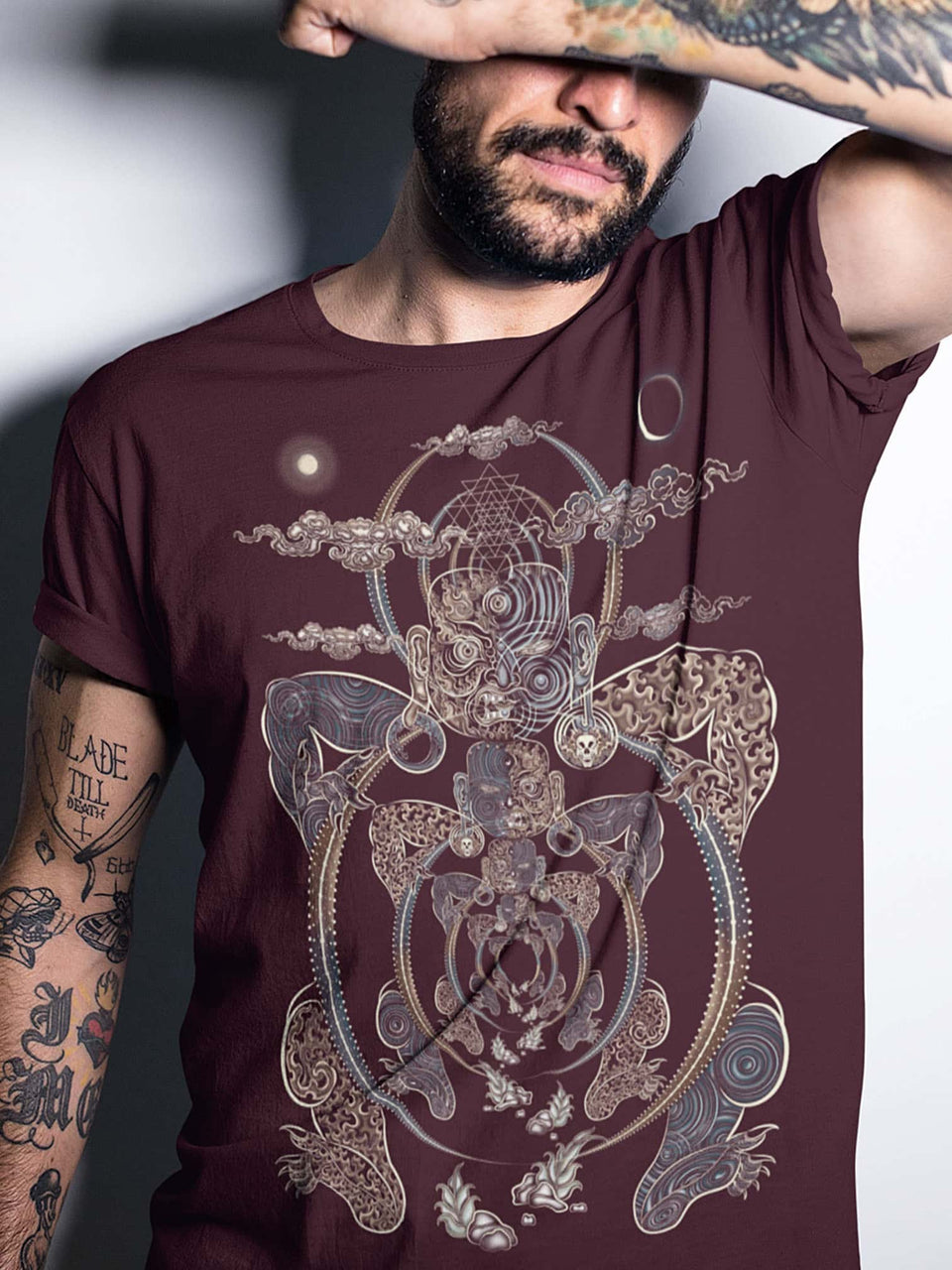Yogabhoga Made To Order Men T-Shirt - Burgundy