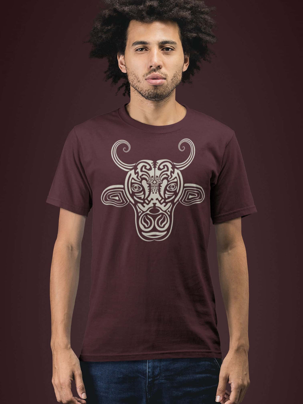 Holy Cow Made To Order Men T-Shirt - Burgundy
