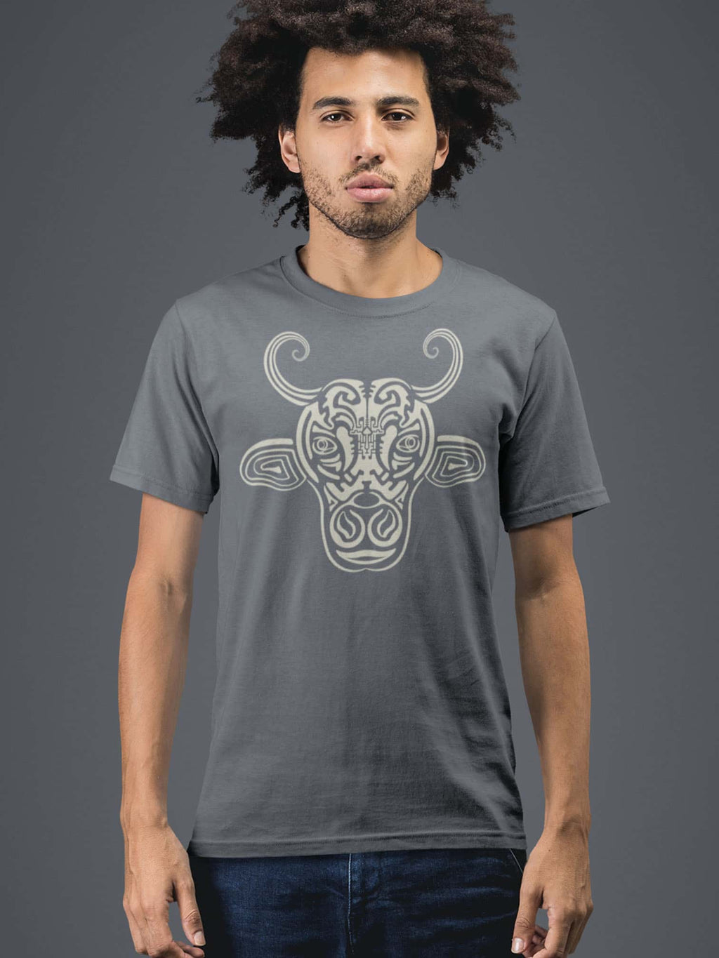 Holy Cow Made To Order Men T-Shirt - Light Charcoal