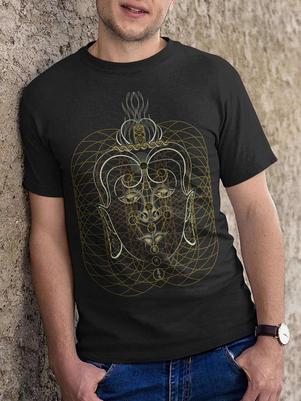 Buddha Vibes Hung Made To Order Men T-Shirt - Black